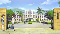 The school is drawn according to the Toyosato Elementary School